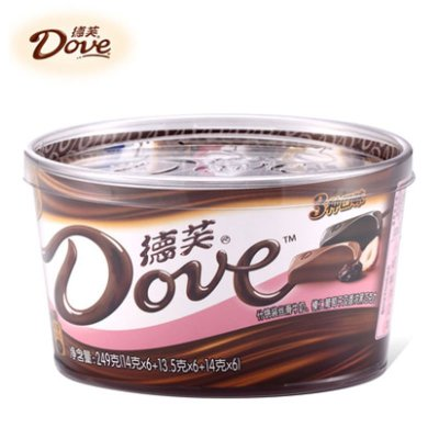 dove德芙碗装巧克力(多种口味)249g 19.95元(39.9,买2付1)