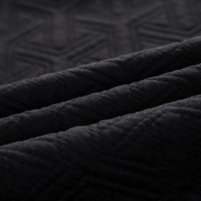 初语2014秋季新款 几何暗纹黑白撞色结构型圆领卫衣女