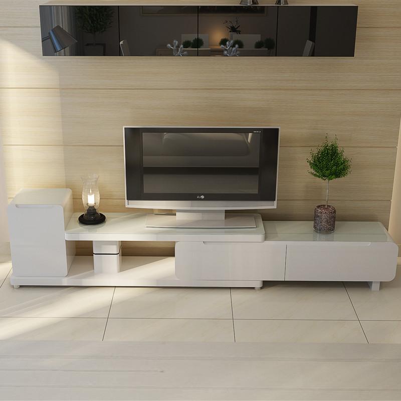 黑白色简约电视柜客厅长方形