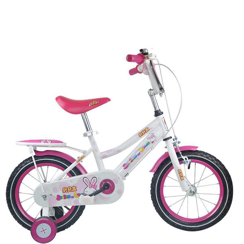 贝贝高 love兔公主儿童自行车 宝宝女童单车 可爱脚踏车12/14/16寸可