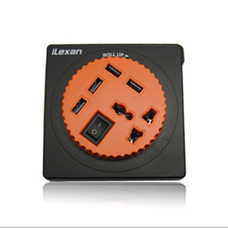ilexan领先者智能数码排插4口usb扩展手机平板充电通用型万能插座