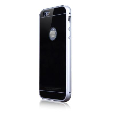 funmax乐多苹果6手机外壳新款iphone6保护套金属边框钢化玻璃后盖六代