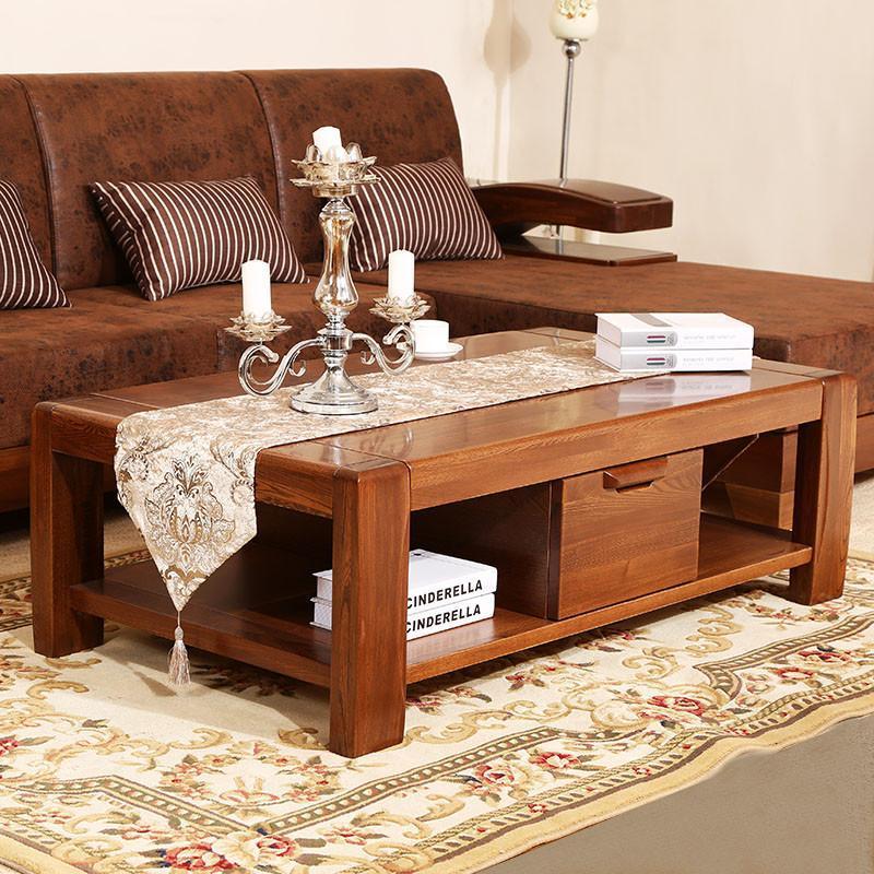 初林中式客厅茶几实木家具