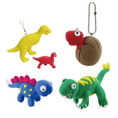 培培乐正品恐龙世界太空泥3d彩泥无毒橡皮泥模具超轻粘土早教益智儿童