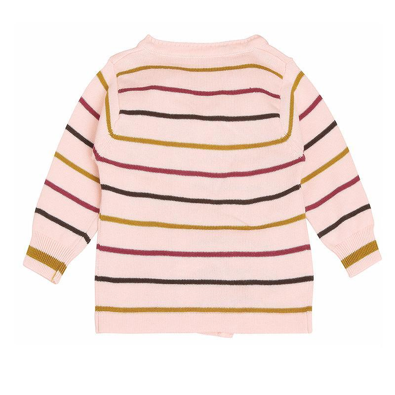 素蕴新生儿和尚服婴儿纱衣 宝宝毛衣 系带开裆线衣套装c12 湖蓝色 59