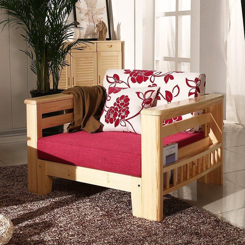 松香门第 布艺沙发 客厅实木沙发 实木沙发中式小户型转角 懒人沙发