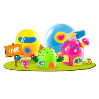 手工彩泥套装魔法蛋3颗装3d轻质彩泥魔法粘土儿童益智玩具 鲜花 动物