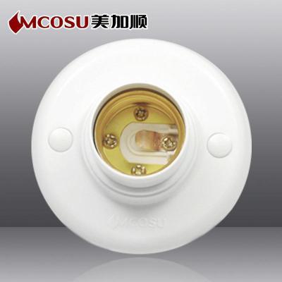 圆形灯口怎么接线接出插座