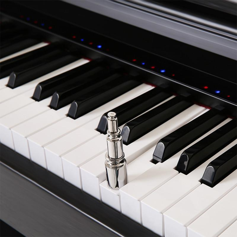 the one 智能钢琴top1 88键重锤 电钢琴 教学钢琴 胡桃木黑