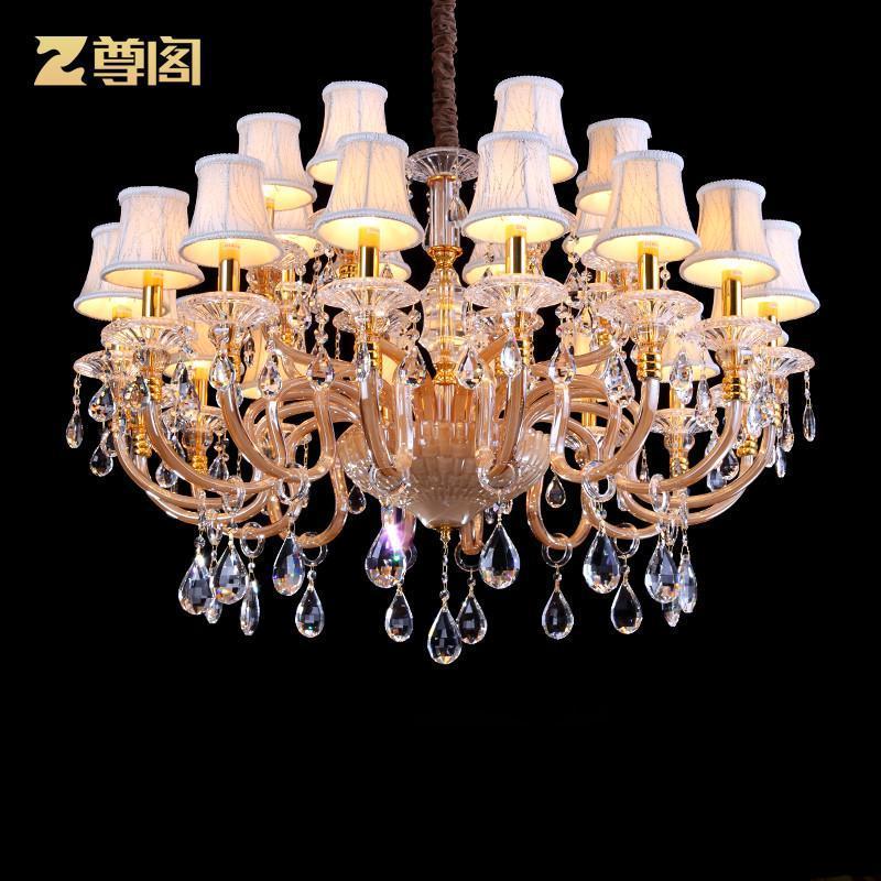 【尊阁吊灯 z067】大型进口水晶灯