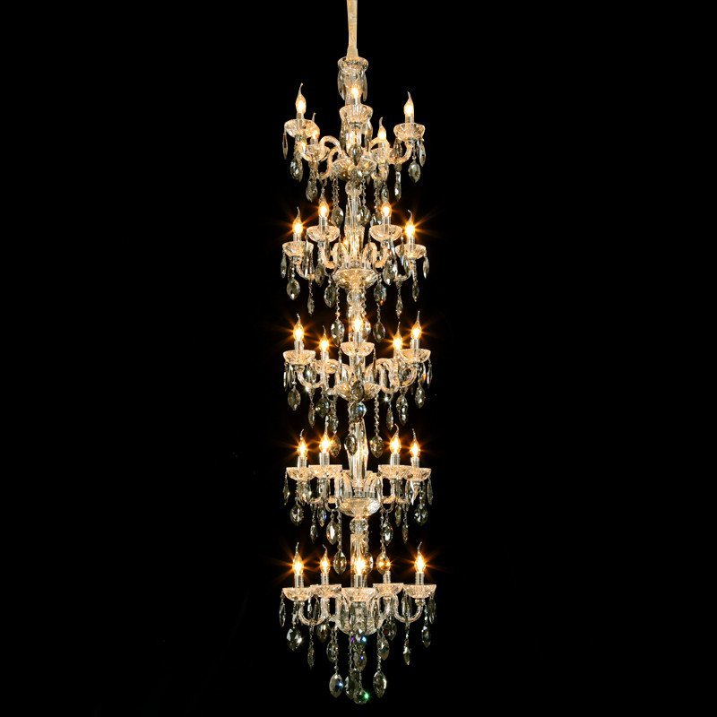 奢华进口水晶灯 欧式复式楼别墅大厅楼梯水晶大吊灯