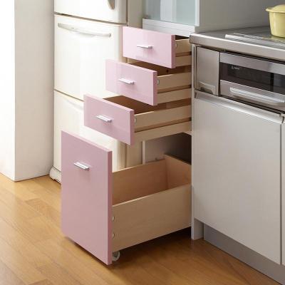 餐边柜电器柜蔬菜柜厨房高柜 冰箱边柜储物柜壁柜阳台柜 白色
