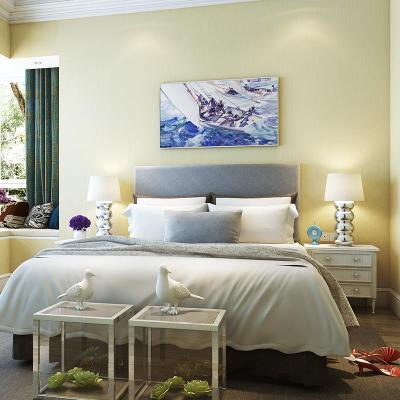 旗航 现代简约素色壁纸无纺布墙纸 客厅壁纸 卧室纯色