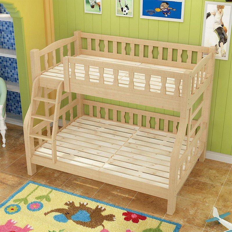 领梦家具 儿童床上下亲子高低床双层实木床子母母子双人床松木 1.