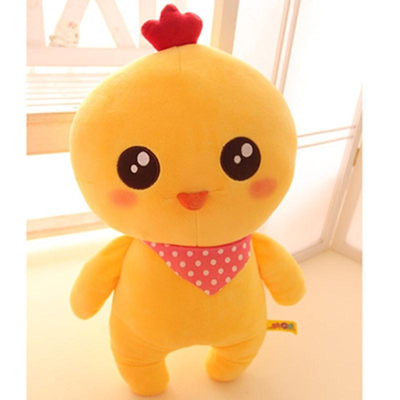 可爱开心农场动物毛绒公仔 奶牛兔子青蛙鸡仔玩具布娃娃儿童礼物 350c