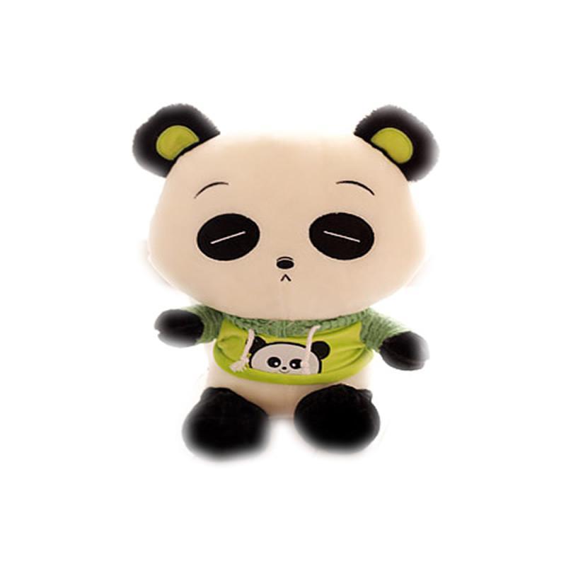 luckyted可爱卡通熊猫公仔穿衣服熊毛绒玩具儿童玩偶 创意娃娃 生日礼