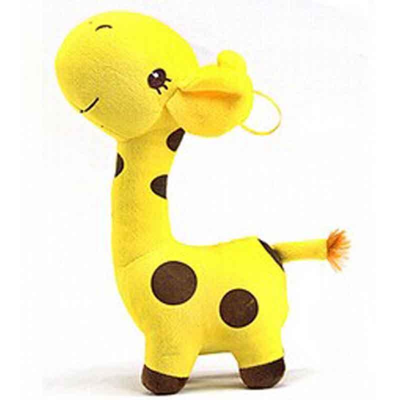 可爱小熊布娃娃儿童玩具泰迪熊婚庆毛绒玩具公仔y5 长颈鹿 黄色约高19
