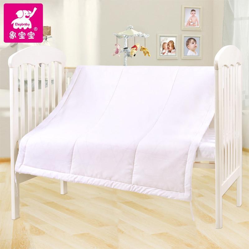 象宝宝婴儿被子 秋冬棉被 纯棉冬加厚婴儿两用被 全棉婴儿被芯 白色 1