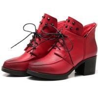 安丽尼卡2014新款短筒马丁靴短靴女秋冬高跟