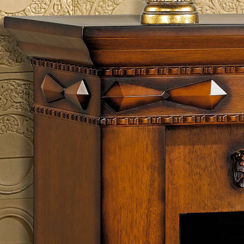 帝轩名典 0.8米欧式壁炉柜 实木美式壁炉架 装饰取暖加热led炉芯