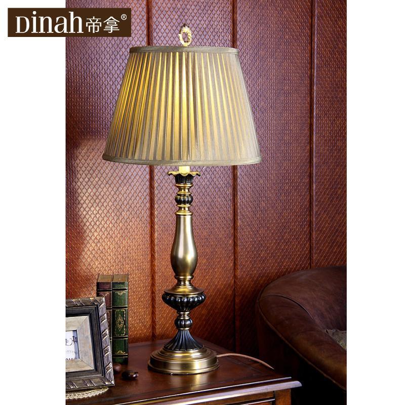 帝拿卧室复古装饰床头灯奢华欧式办公室灯饰美式田园