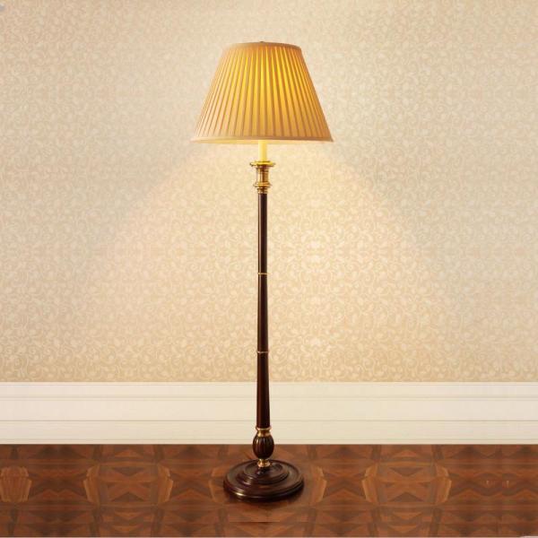 全铜落地灯欧式美式田园卧室办公室书房床头落地台灯