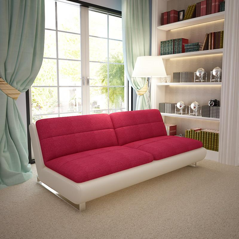 乐和居 双人沙发床 皮布结合 懒人沙发 小户型家具 sfc111 寂静灰