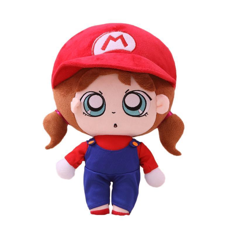 燕妮 萌小q毛绒公仔表情系列可爱布娃娃 超级玛丽款 35cm高清实拍图