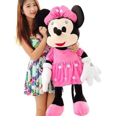 可爱米奇米妮米老鼠儿童毛绒玩具玩偶情侣公仔一对喜庆毛绒压床布娃娃
