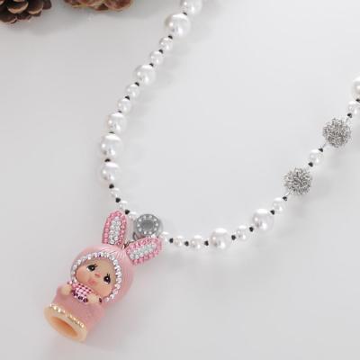 蒙奇奇项链小珍珠
