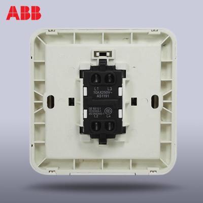 abb开关插座面板abb开关abb德静系列 一位/一开三控中途开关aj119