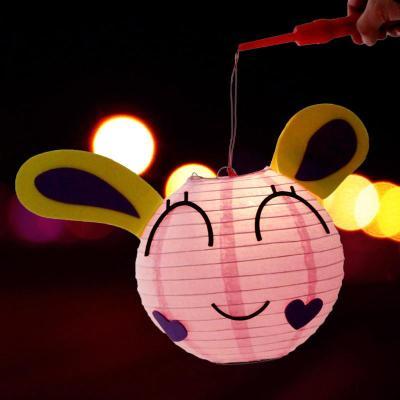 小灯笼 手提灯笼 彩灯 创意灯笼 元宵节儿童款灯笼 卡通diy纸灯笼 小