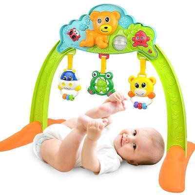 玩具0-6个月宝宝健身架儿童早教宝宝音乐架双面