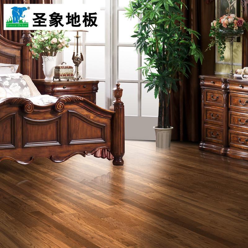 圣象康逸三层实木复合地板nk1005落日红韵 3.3mm橡木层