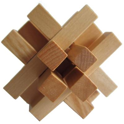木有人 木质孔明锁鲁班锁 益智玩具 十四锁