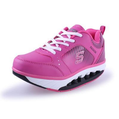 魔力增高瘦身鞋_户外运动鞋 舒适增高鞋 在校学生鞋 魔力弹性鞋底898 粉红色 36码