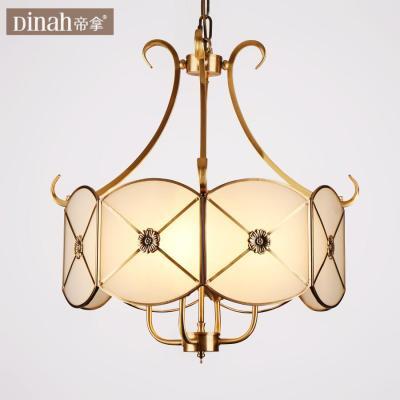 帝拿欧式全铜吊灯饰北欧客厅卧室餐厅led美式乡村