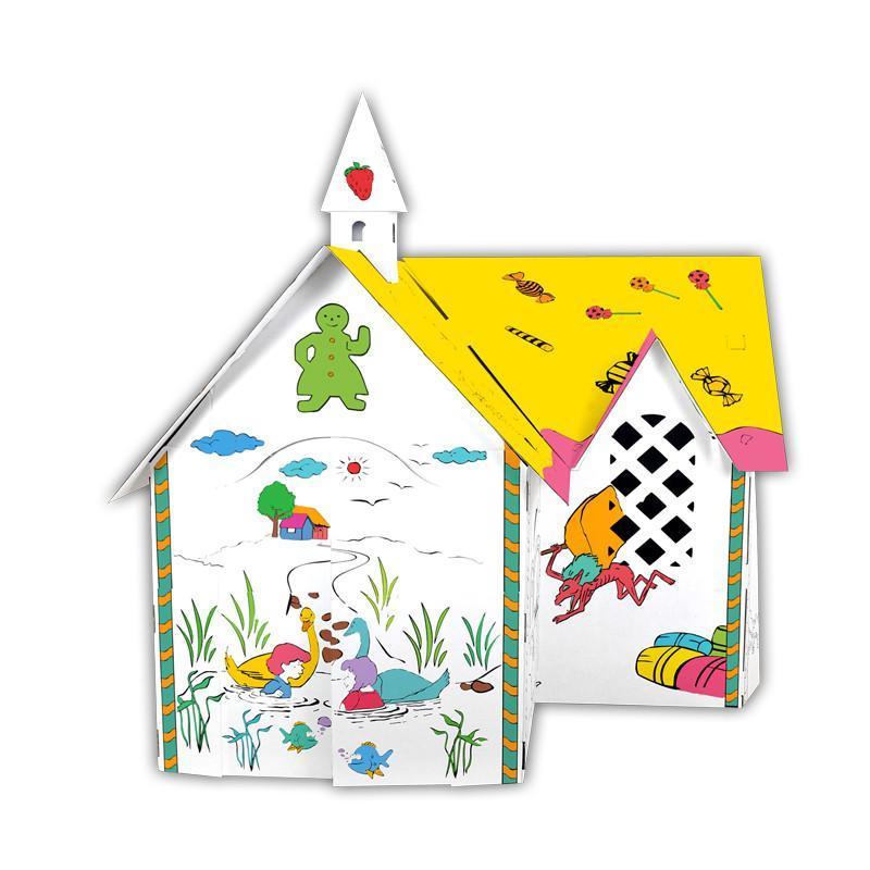 【魔卡童立体拼插】手绘游戏屋---糖果屋【价格