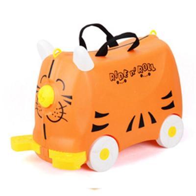 儿童宝宝彩色可爱动物旅行箱行李箱滑行车儿童收纳箱