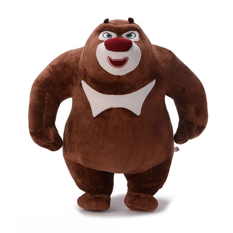 正版熊出没系列可爱熊大熊二光头强毛绒公仔娃娃毛绒玩具影视动漫玩具