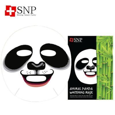 韩国直邮snp熊猫美白补水动物面膜10片 个性面膜 包邮 25ml*10