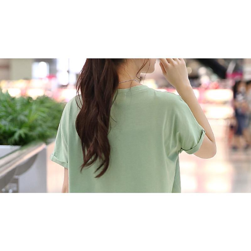 舒雪儿2015夏装新款女士韩版圆领宽松型蝙蝠袖俏皮可爱图案印花t恤sxe