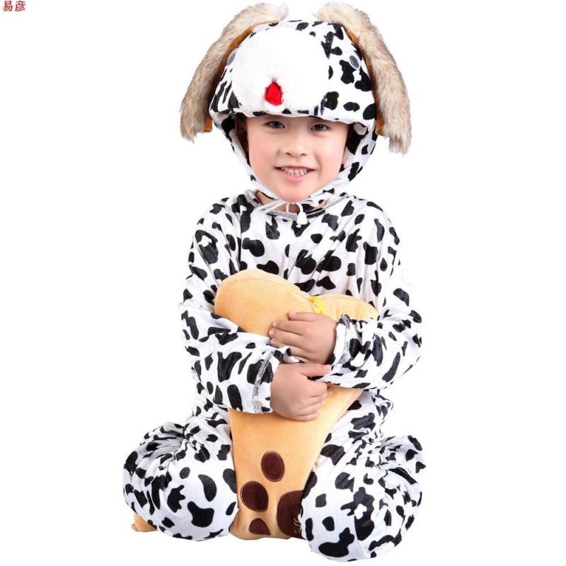 【皇冠猴仿真模型】易彦小狗演出服装儿童小黄狗动物