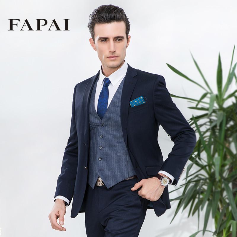 法派2015春装新款英伦绅士西服商务休闲男士修身西装