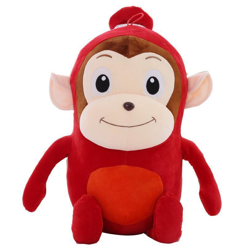 可爱大嘴猴公仔毛绒玩具 猴子玩偶恶搞布娃娃 香肠猴60cm