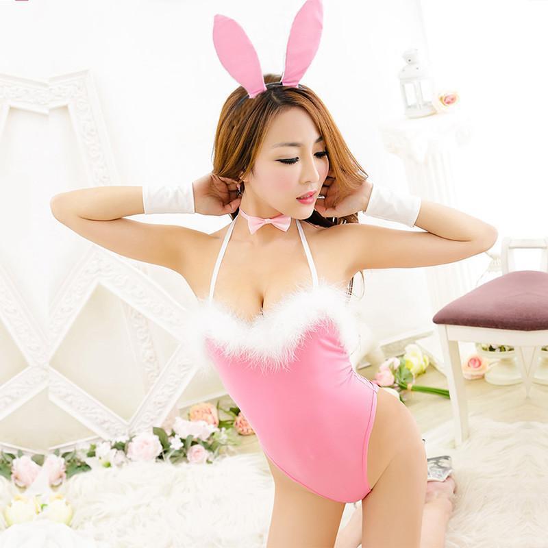 霏慕俏皮可爱粉色兔女郎装9872情趣内衣 成人用品【请