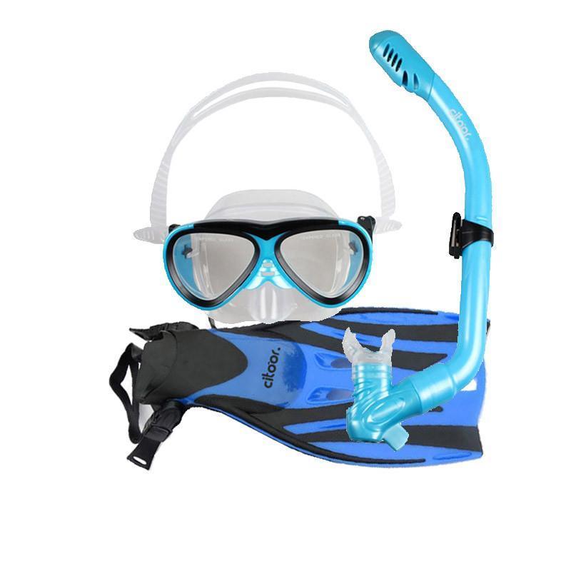 浮潜装备_希途citoor 儿童潜水镜套装全干式呼吸管浮浅装备浮潜三宝 浮潜装备