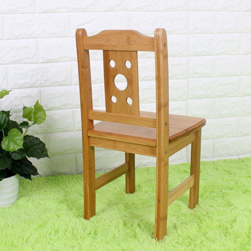 竹城鼎信儿童椅子实木靠背椅楠竹家用餐椅小板凳方凳幼儿园学习椅 五