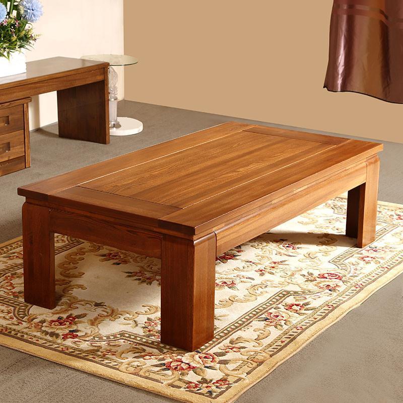 中式客厅茶几实木家具 现代中式客厅cj-1老榆木实木茶几 1.4米