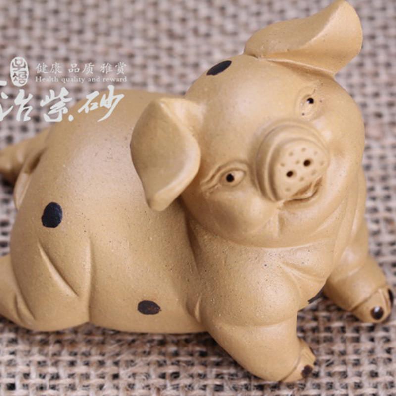 【子冶】欢天喜地 小猪 茶宠 紫砂摆件 茶具 宜兴紫砂 手工 正品